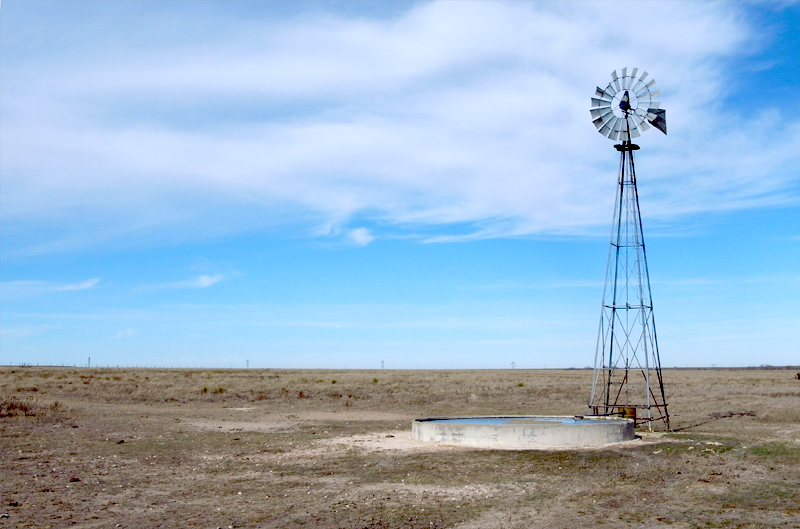 Windmill at Buffalo Lake National Wildlife Refuge pumping water from the Ogallala Aquifer.