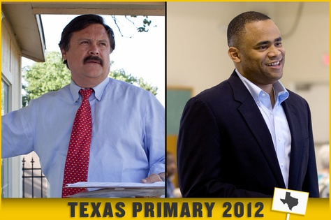 Dallas attorney Domingo Garcia, left, and Fort Worth state Rep. Marc Veasey, right.