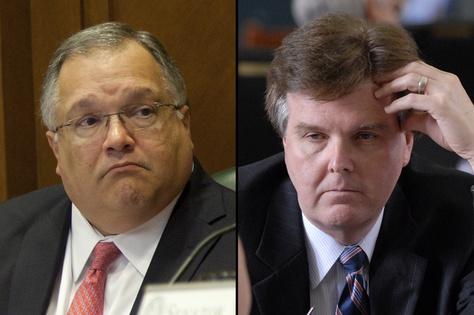 Sen. John Carona, R-Dallas (l) and Sen. Dan Patrick, R-Houston (r)