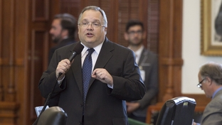 State Sen. John Carona, R-Dallas, speaking to the Senate after being appointed chairman of the conference committee on the Texas Windstorm Insurance Association on June 27, 2011.