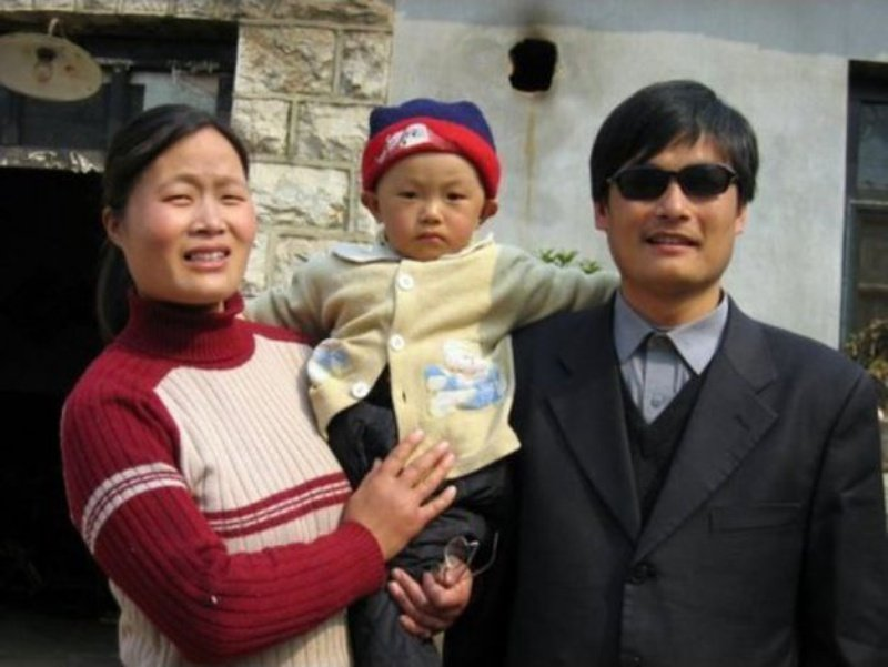 Chen Guangcheng and his family in an undated photo.