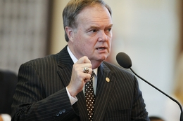 State Rep. Wayne Christian, R-Nacodoches, debates an amendment to HB1 on April 1, 2011.