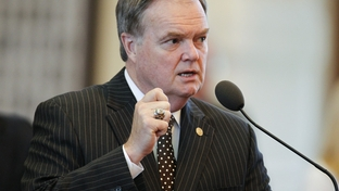 State Rep. Wayne Christian, R-Center, debates an amendment to HB1 on April 1, 2011.