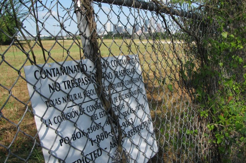 Former MDI Superfund site east of downtown Houston.