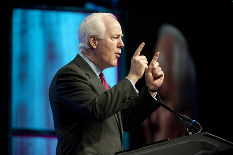 U.S. Sen. John Cornyn gives a keynote speech June 8, 2012 at the Texas Republican Convention in Fort Worth.