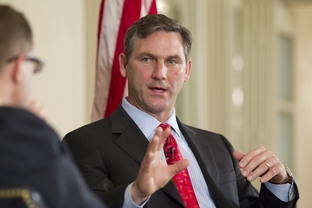 U.S. Senate candidate Craig James at a TribLive event at the Austin Club on Feb. 23, 2012.