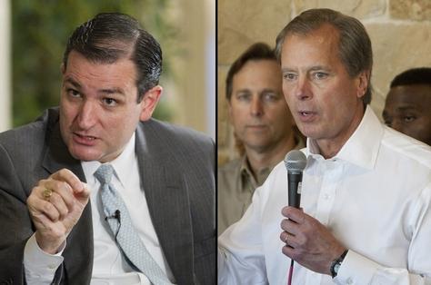 U.S. Senate candidates Ted Cruz and David Dewhurst