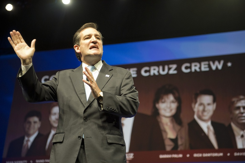 U.S. Senate candidate Ted Cruz speaks to Republican Convention delegates on the final day June 9, 2012.