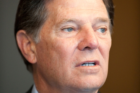 Former U.S. House Majority Leader Tom DeLay on Nov. 1, 2010, before opening arguments in his trial.