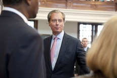 Lt. Gov. David Dewhurst leaving the House chamber following budget negotiations on May 19, 2011.