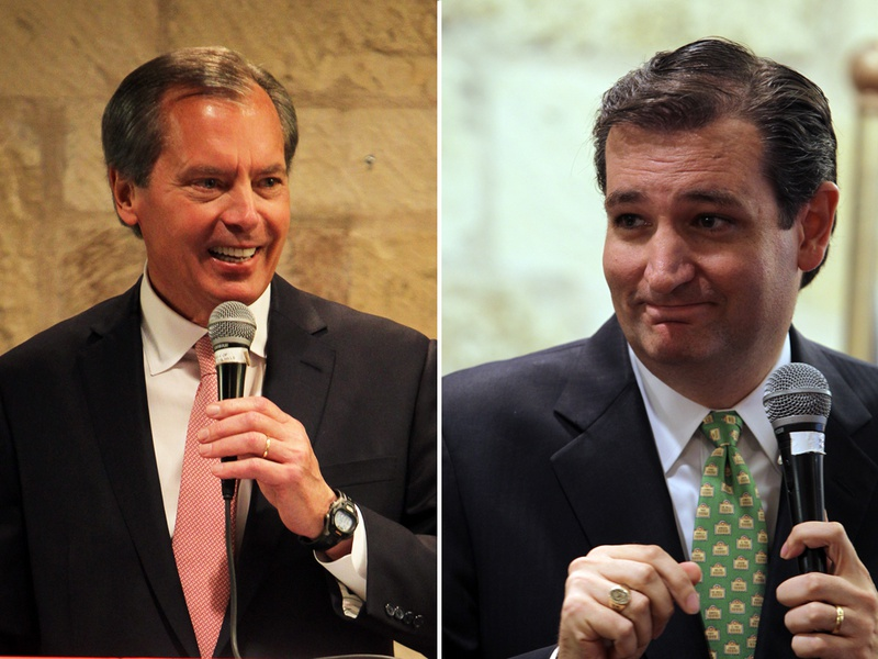 Lt. Gov. David Dewhurst and Ted Cruz speak at the Republican Women of Kerr County luncheon at Inn of the Hills in Kerrville, June 15, 2012.