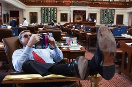 State Rep. Joe Driver, R-Garland, on the House floor.