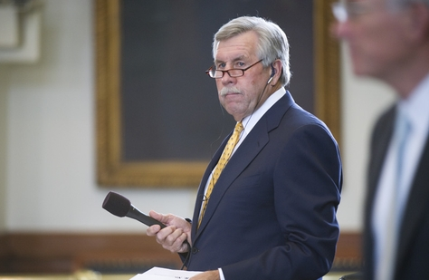 Sen. Troy Fraser, R-Horseshoe Bay, asks the Senate to adopt the conference committee report on voter ID legislation on May 9, 2011.
