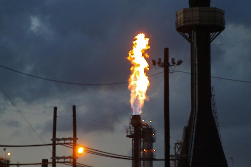 Gas flare in La Porte, Tx, March 15th, 2012
