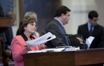 State Rep. Linda Harper-Brown, R-Irving, answers questions on the TXDOT sunset bill on April 29, 2011.