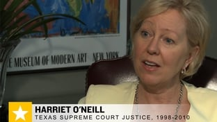Former Texas Supreme Court Justice Harriet O'Neill sat down with the Texas Tribune in her offices on July 23, 2010.