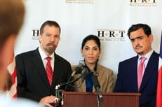 Hispanic Republicans of Texas (HRT). Left to right,  Juan Hernandez, Sonia Medina and Jacob Monte.