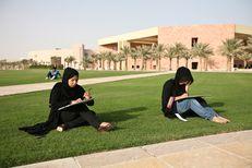 Students at Texas A&M students in Doha, Qatar.
