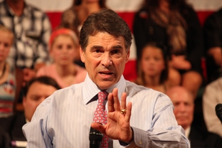 Rick Perry in Derry, N.H., on Sept. 30, 2011