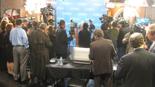 Feb 8, 2010. The press conference following the Democratic gubernatorial debate.