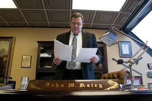 Attorney John Raley in his Houston office, Jan. 6, 2012
