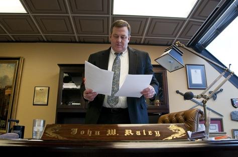 Attorney John Raley in his Houston office, Jan. 6, 2012