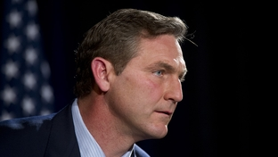 Former ESPN commentator and football player Craig James pauses during the U.S. Senate candidates debate sponsored by TPPF in Austin on January 12, 2012.