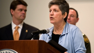 Secretary of Homeland Security Janet Napolitano visits Laredo, TX to announce the 2010 fiscal year Operation Stonegarden grants.