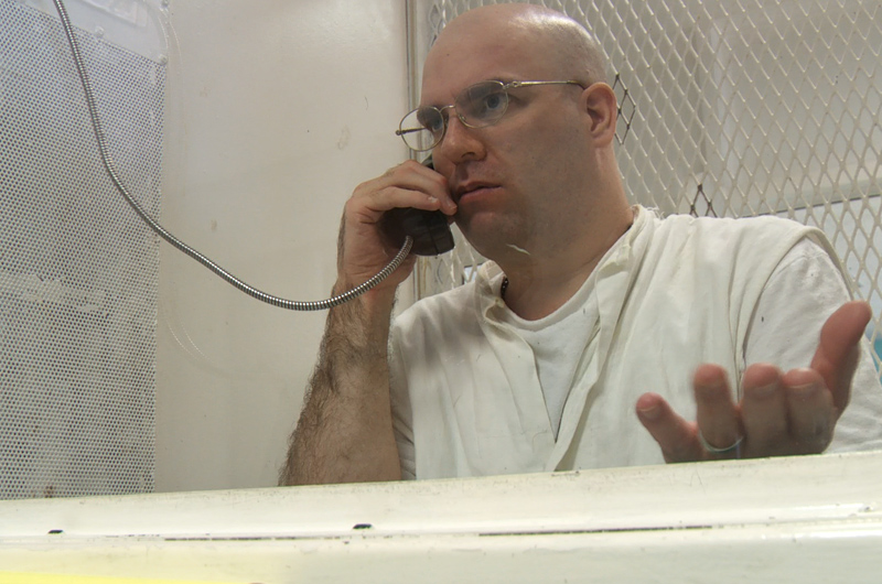 Death row inmate Larry Swearingen during an interview on July 27, 2011, at the Polunsky Unit in Livingston, Texas.