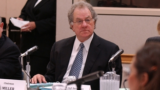 Charles Miller, chairman of the University of Texas Board of Regents, conducts a regular meeting on August 6, 2003 in San Antonio.