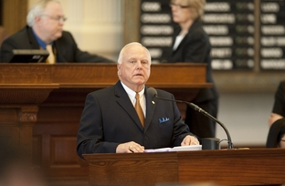 Author of HB15 Rep. Sid Miller (R-Stephenville) debates the sonogram bill on March 2, 2011