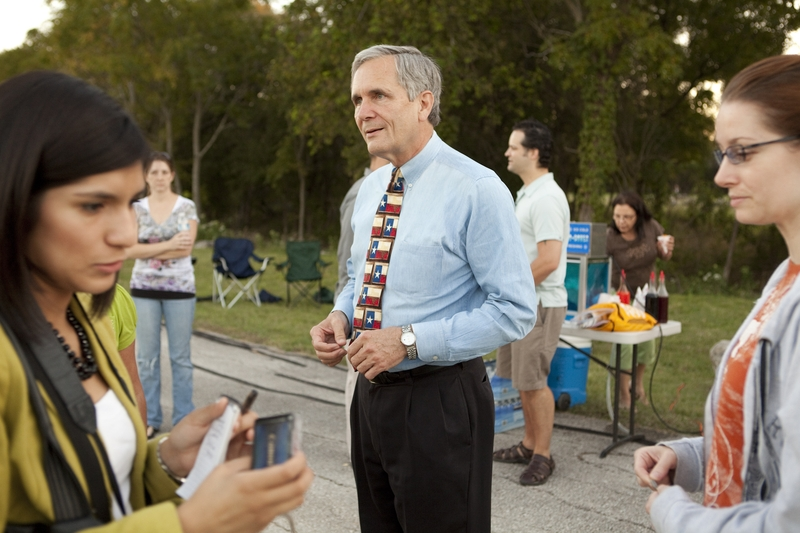 US Congressman Lloyd Doggett, D-Austin, at a National Night Out event in Austin, TX.