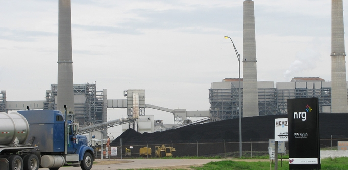 The energy company NRG aims to capture and bury harmful emissions from burning coal at a Houston plant.