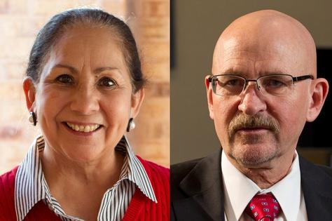 Dr. Juliet García, president of the University of Texas at Brownsville, Dr. Robert Nelsen, president of the University of Texas-Pan American