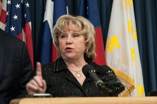 State Sen. Jane Nelson, R-Flower Mound, is shown speaking at a Jan. 16, 2013, news conference addressing Medicaid.