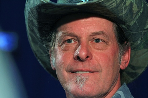 Ted Nugent at the State Farm Arena in Hidalgo, Texas.
