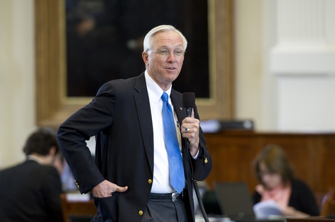 Sen. Steve Ogden, R-Bryan, attempts to get votes to suspend the rules on CSSB1580 a Senate spending bill on April 28, 2011.