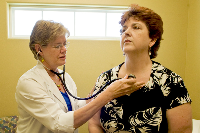 Family nurse practitioner Jean Gisler at her office in Victoria, Texas.
