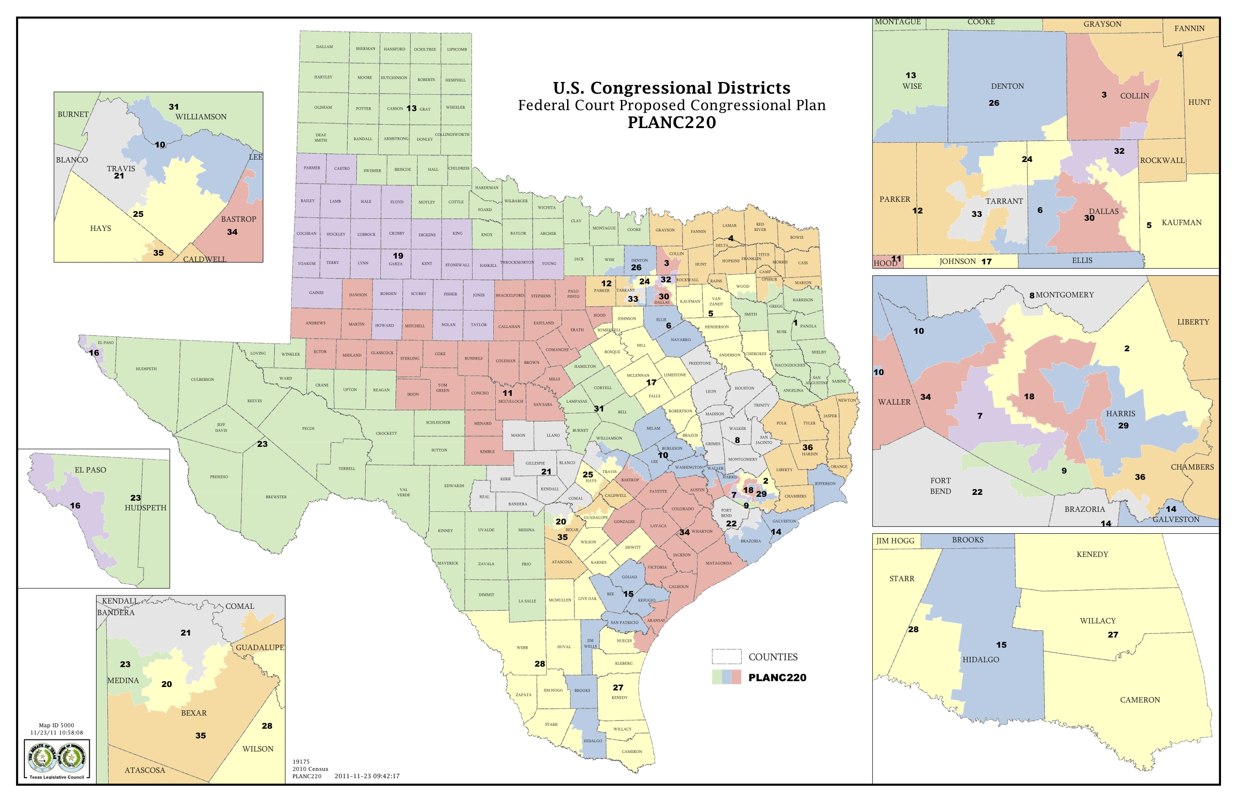 Court Releases Congressional Maps The Texas Tribune - District map of texas for us house of representatives