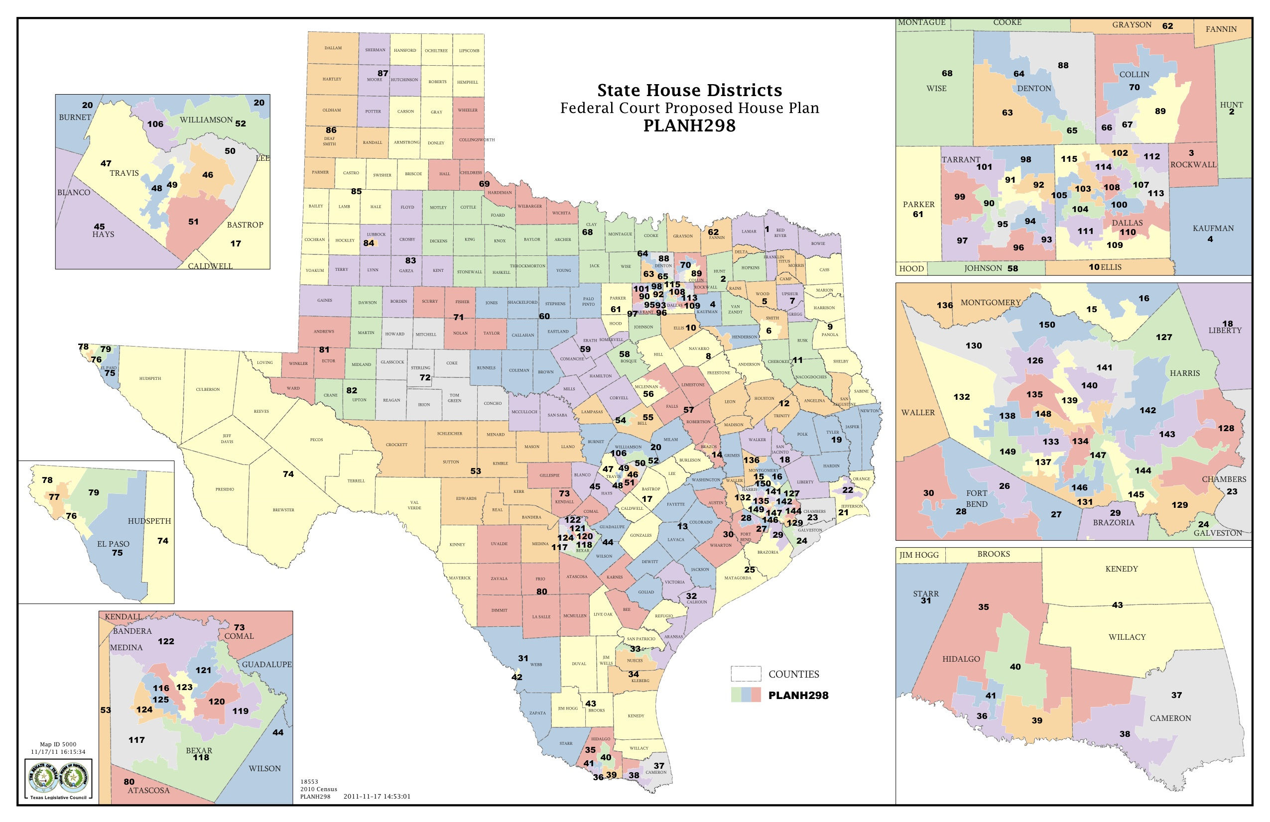 Federal Judges Propose Maps For Texas Legislative Races The - Us district court areas map