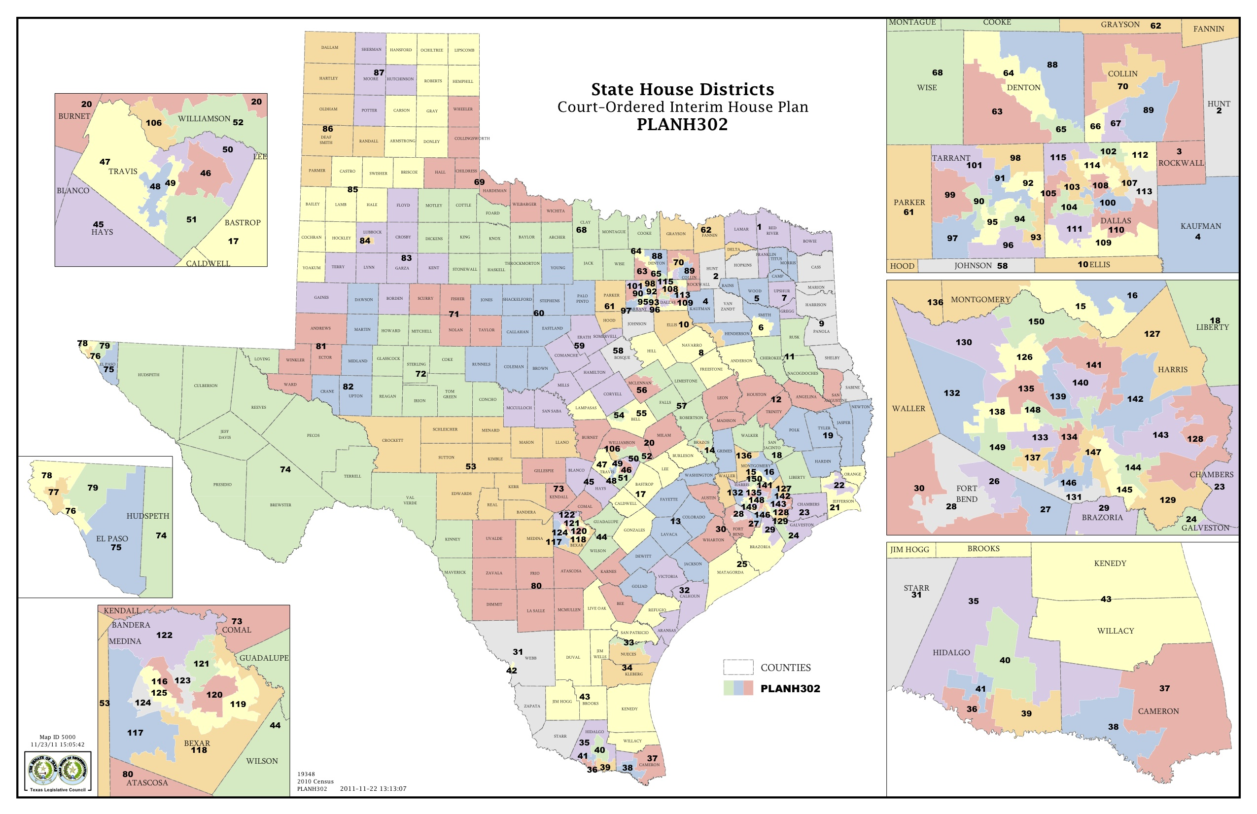 Map Of Texas County Lines.Court Increases Minority Districts In Texas Legislature The Texas