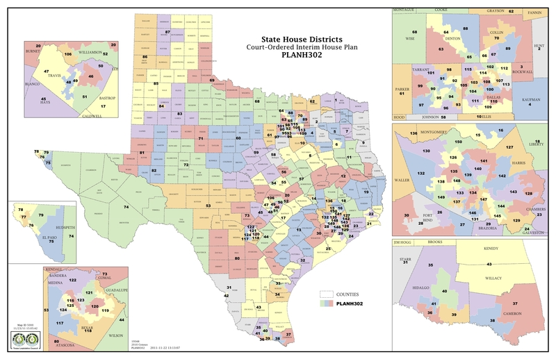 Map Of Texas Districts.Court Increases Minority Districts In Texas Legislature The Texas
