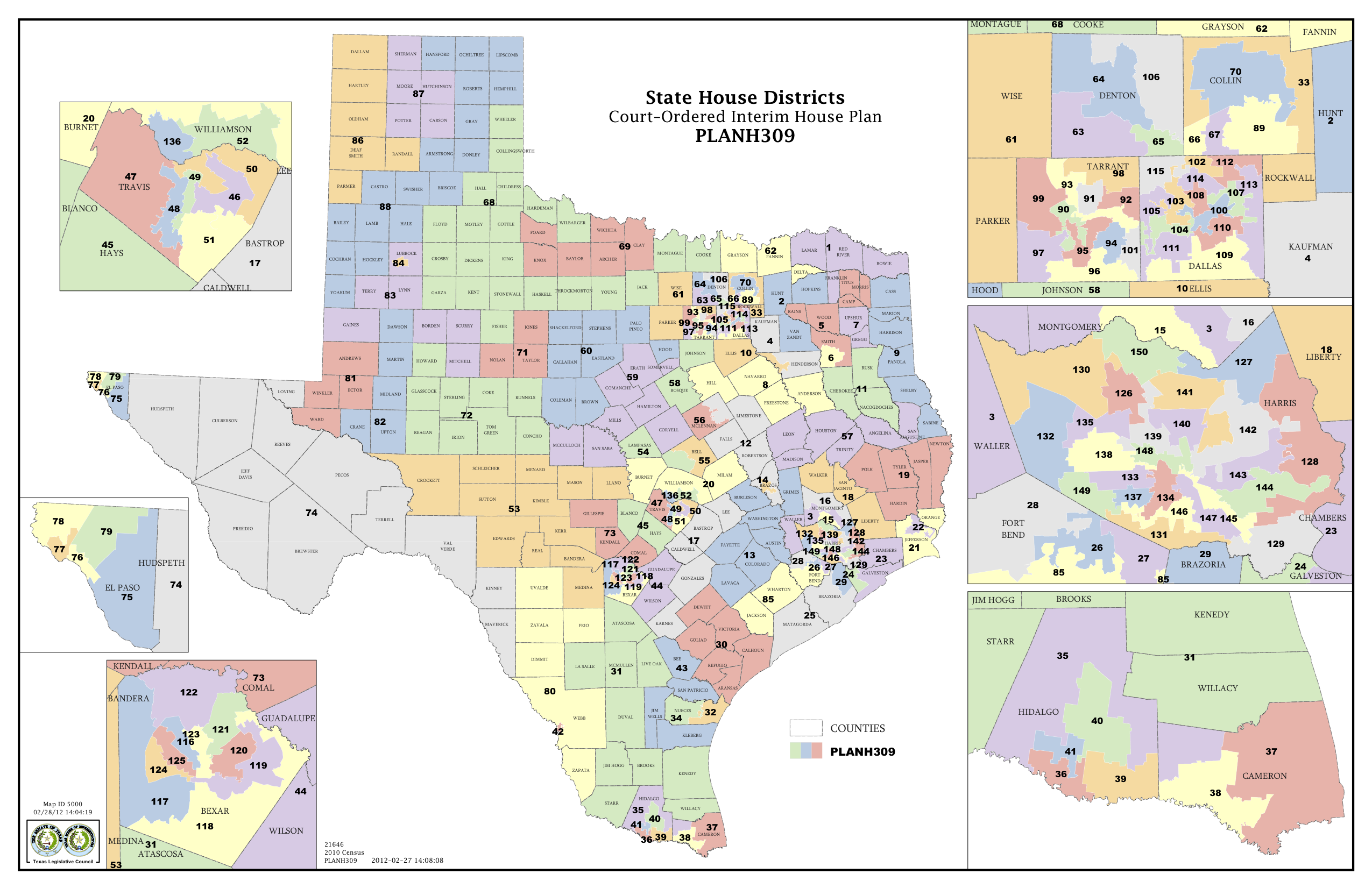 Court Delivers Election Maps For Texas House Congress The Texas District Map Of Texas For
