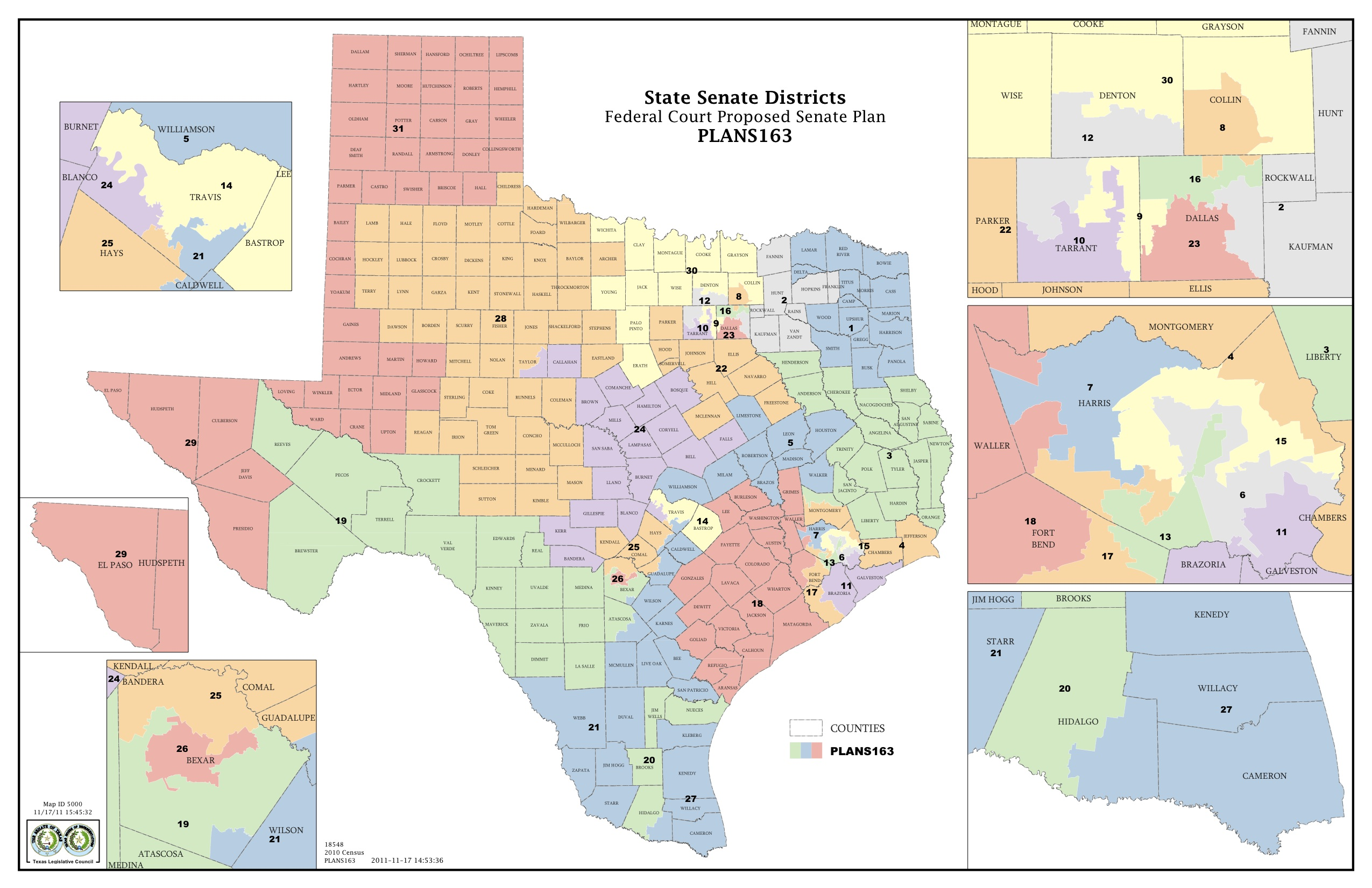 Federal Judges Propose Maps for Texas Legislative Races ...