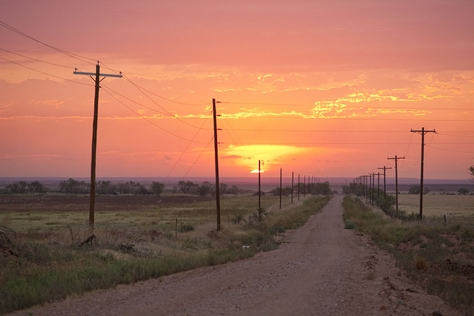 A sunrise marks the beginning of a new September day in Paint Creek, Texas, home of Governor Rick Perry, on September 22, 2011.