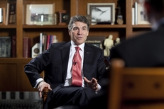 Gov. Rick Perry in his Capitol office on Feb. 21, 2012.