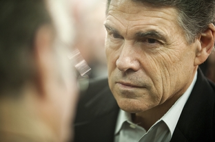 Gov. Rick Perry at a campaign stop in Osceola, Iowa, on Dec. 27, 2011.