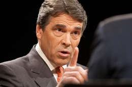 Gov. Rick Perry in an interview with Tribune CEO and Editor-in-Chief Evan Smith