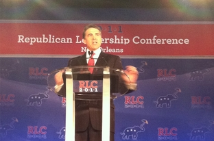 Gov. Rick Perry speaks to the Republican Leadership Conference in New Orleans on June 18, 2011