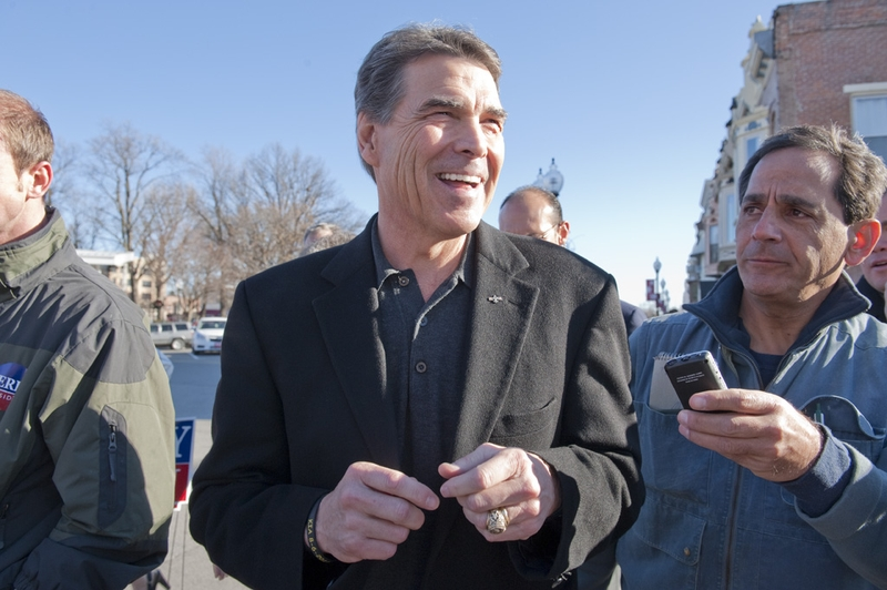 Gov. Rick Perry in Iowa on Dec. 29, 2011.